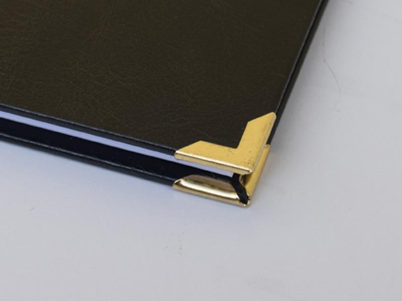 Eckenschoner für Leder gold