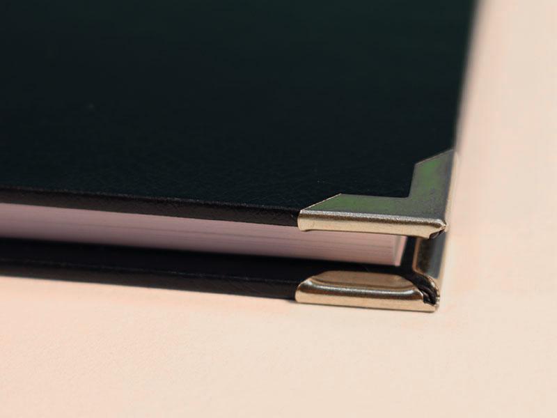 Eckenschoner für Leder silber